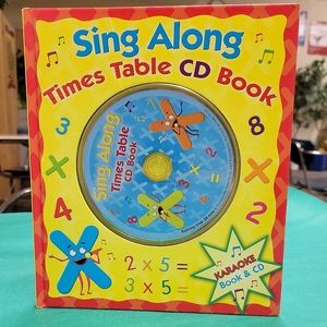 Childrens Sing along times table CD book